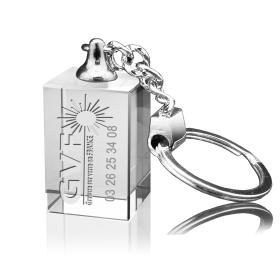 porte-clés rectangulaire gravé