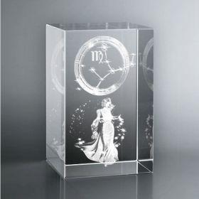 Gravure 3d signe astrologique Vierge
